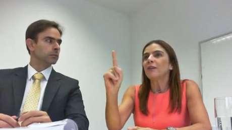 Mônica Moura em registro de delação premiada: pagamentos eram feitos 'por fora', diz marqueteira
