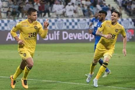 Fábio Lima e Caio foram essenciais para o vice-campeonato do Al Wasl nos Emirados Árabes (Foto: Divulgação)
