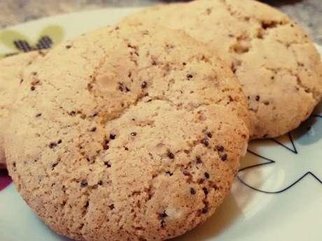 Cookie de aveia com castanhas e chia