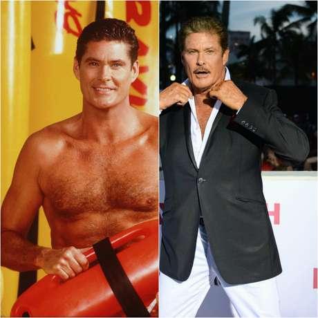 Antes y después de David Hasselhoff.