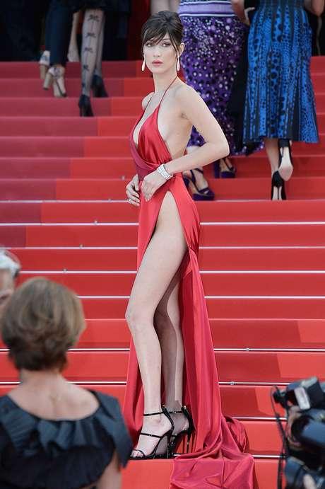 Así causó locura Bella Hadid en Cannes 2016.