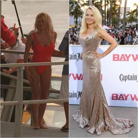 Antes y después de Pamela Anderson.