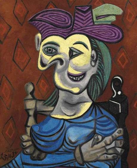 O quadro 'Femme assise, robe bleue', de Pablo Picasso