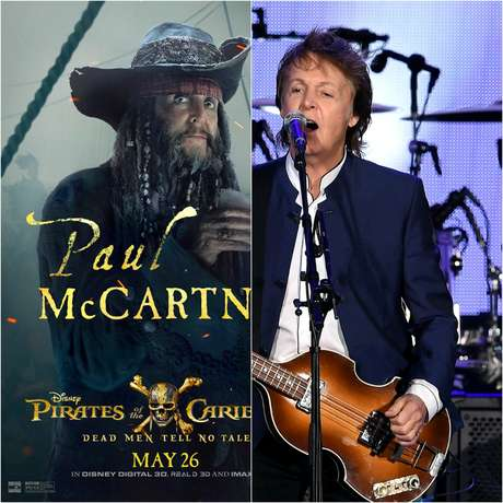 Paul McCartney pasa de músico a pirata en 'Pirates of the Caribbean: Dead Men Tell No Tales'.