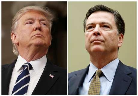 Donald Trump e o diretor do FBI James Comey