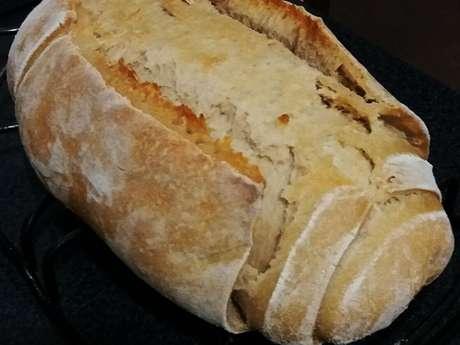 Pão caseiro feito com fermento natural