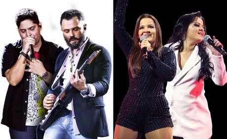Grandes duplas sertanejas como Jorge & Mateus e Maiara & Maraísa fazem parte da programação dos rodeios
