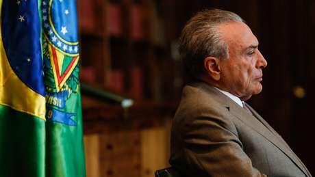Presidente Michel Temer durante entrevista nesta semana