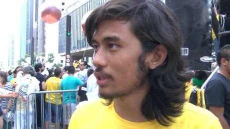 Kim Kataguiri em manifestação de 2105 na Avenida Paulista