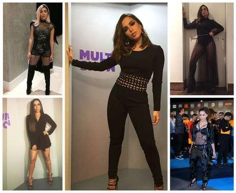 Anitta in black