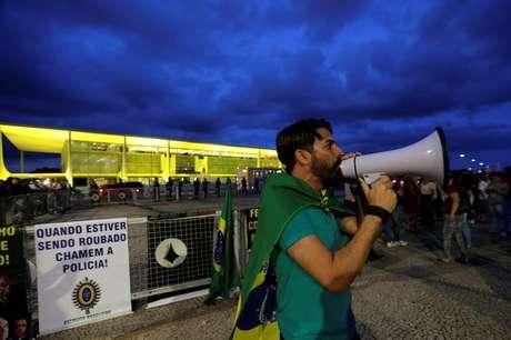 Brasília, em frente ao Palácio do Planalto