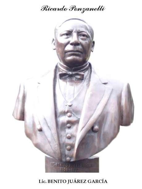 Escultura Benito Juárez de Ricardo Ponzanelli