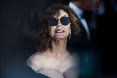 El escote de Susan en Cannes 2017.