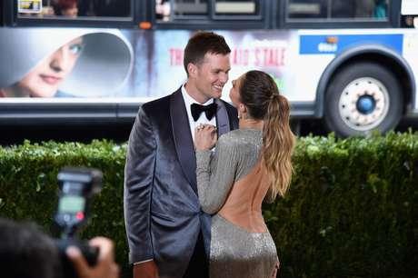 Tom Brady con su esposa.