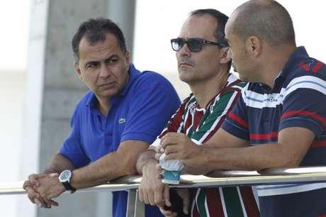 Veiga, Abad e Teixeira no CT: Diretoria trabalha para deixar contas em dia (Foto: Nelson Perez/Fluminense FC)
