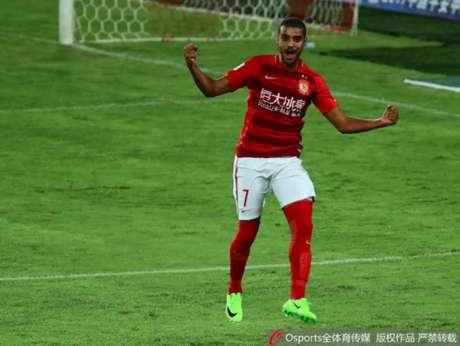 Alan tem quatro gols na Super Liga Chinesa (Foto: Divulgação / Sina.com.cn)