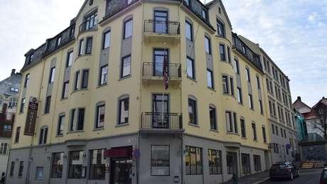 A última parada da mulher foi no Hotel Hordaheimen