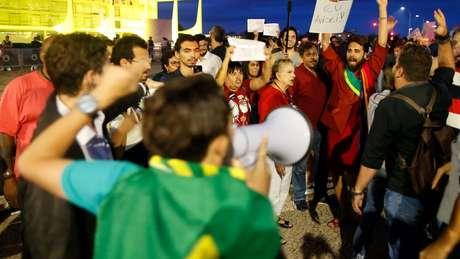 Manifestantes de diferentes espectros ideológicos se uniram para pedir a saída do presidente Michel Temer e a realização de eleições diretas
