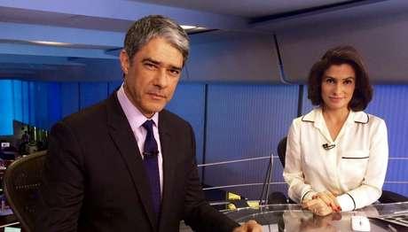 William Bonner e Renata Vasconcellos: contundência do 'JN' contra Temer surpreende os anti-Globo.