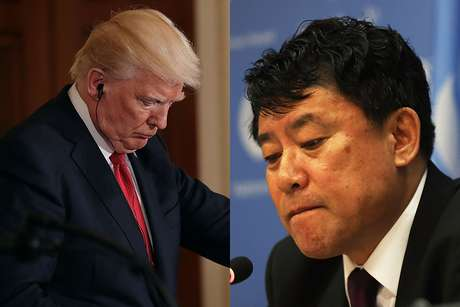 Presidente dos EUA, Donald Trump, e embaixador adjunto da Coreia do Norte na ONU, Kim In Ryong
