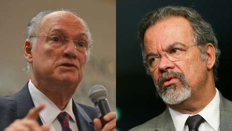 Ambos do PPS, apenas Roberto Freire (esq.) entregou o ministério da Cultura; Jungmann permaneceu na Defesa