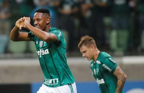 Zagueiro Mina mais uma vez balançou as redes nesta Libertadores