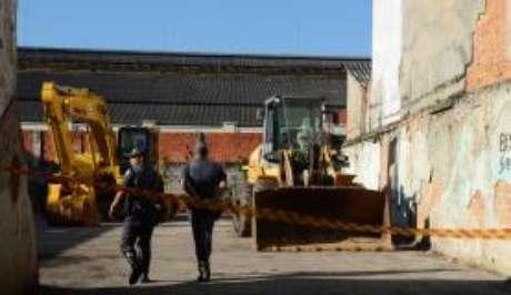 Demolição de prédios na região próxima à Praça Julio Prestes, conhecida como Cracolândia
