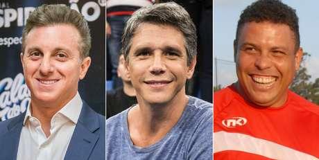 Luciano Huck, Marcio Garcia e Ronaldo Nazário: cobranças e ironias pelo apoio ao senador delatado