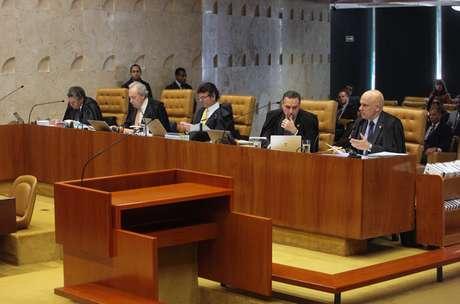 Sessão plenária do STF que julga o foro privilegiado
