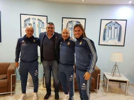 Sampaoli foi apresentado recentemente na Seleção da Argentina (Foto: Reprodução/Twitter)