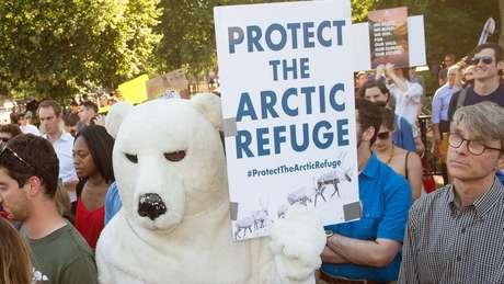 Ativistas ambientais na Casa Branca