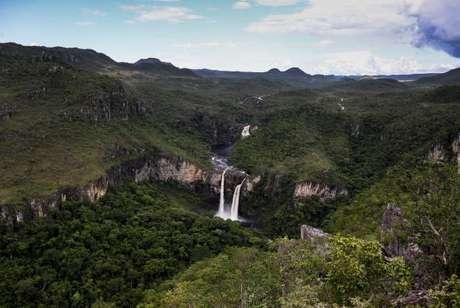 Alto Paraíso de Goiás (GO) - Vista dos Saltos do Rio Preto, a partir do Mirante da Janela, área que faz parte da proposta de ampliação do Parque Nacional da Chapada dos Veadeiros