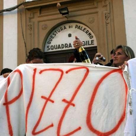 Protesto contra a máfia