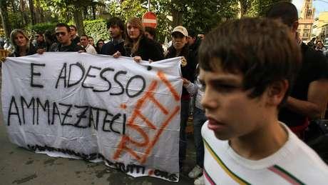 Ativistas em Palermo