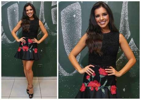 Mariana Rios com saia e top assinado por Martha Medeiros
