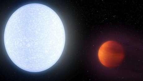 Planeta chamado KELT-9b orbita sua estrela a cerca de 650 anos-luz de nós