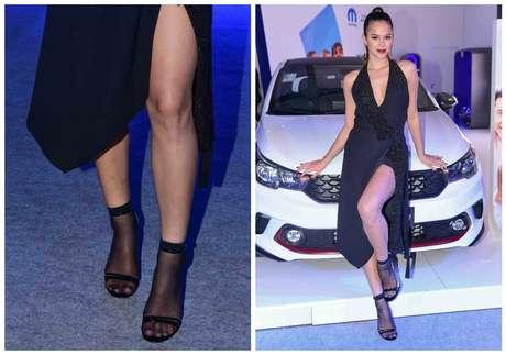 Bruna Marquezine: meia e sandália