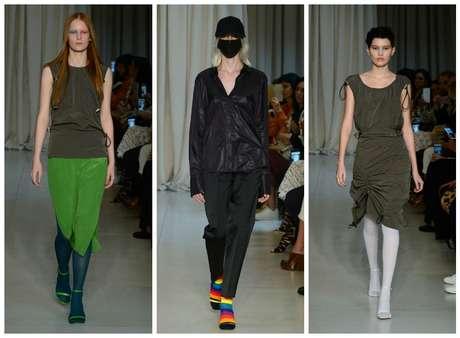 Vitorino Campos propôs meias-calças lisas e estampadas
