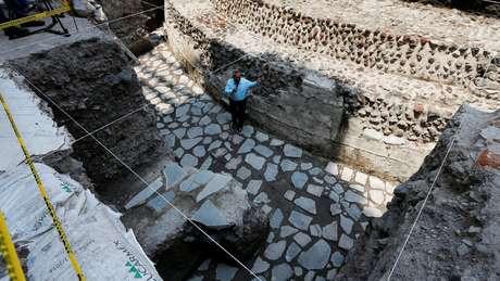 Templo achado na Cidade do México