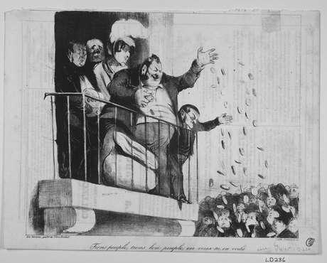 O Mundo dos Negócios (caricatura de Honoré Daumier)