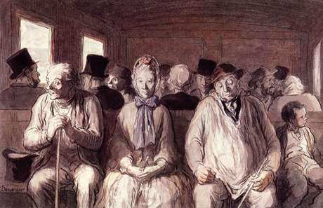 """""""Um vagão da terceira classe"""" (de Honoré Daumier)"""