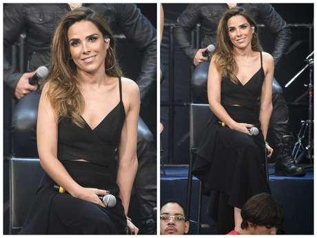 """Vestido preto usado no """"Altas Horas"""""""