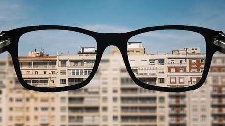 Óculos para a miopia