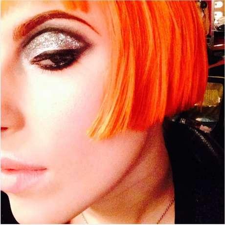 A rockeira ama um tom laranja