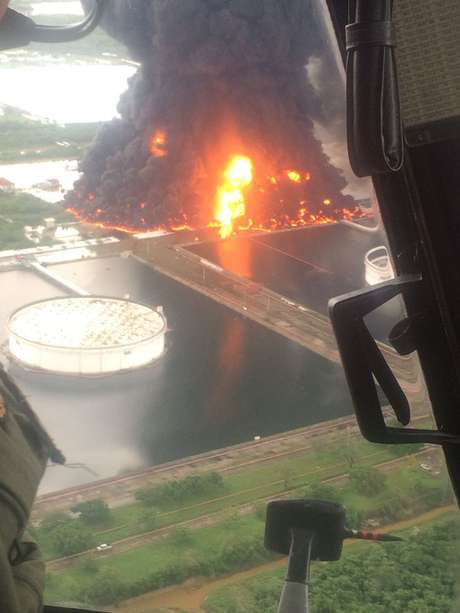 Incendio en refinería de Salina Cruz
