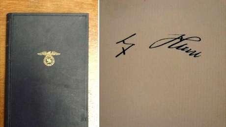 Edição de 1935 leiloada tem assinatura de Hitler na primeira página