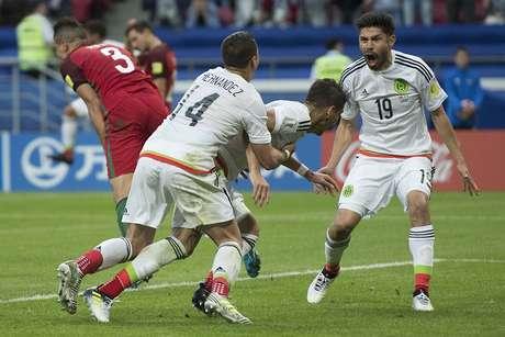 El segundo gol, obra de Héctor Moreno desató la euforia tricolor