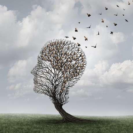 Ilustração que simboliza perda de memória