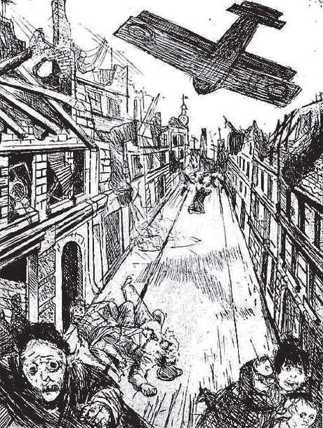Bombardeio aéreo sobre Lins (Otto Dix)