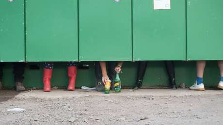 Urinol do festival Glastonbury, na Inglaterra